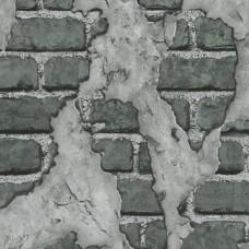 3D Single 2013 Vinil Eskitme Görünümlü Tuğla Duvar Kağıdı