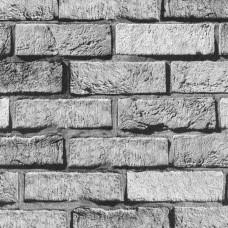 3D Single 2017 Gri Tuğla Görünümlü Duvar Kağıdı