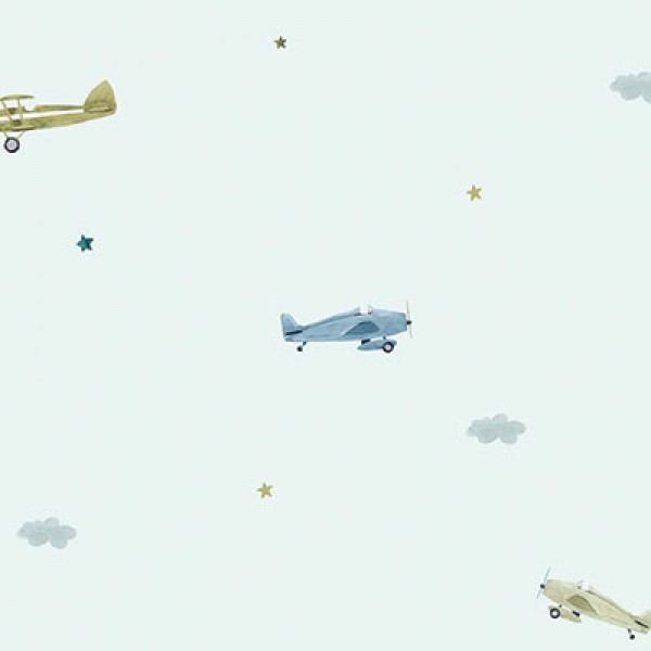 Ada Kids 8907-2 Uçak Desenli Çocuk Odası Duvar Kağıdı
