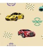 Ada Kids 8909-1 Araba Desen Çocuk Odası Duvar Kağıdı