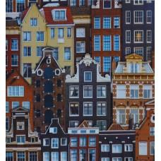 Anka 1618-3 Renkli Binalar Vinil Duvar Kağıdı