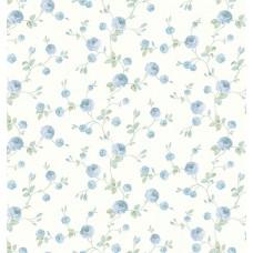 Gordion 2600-1 Mavi Gül Görünümlü Duvar Kağıdı