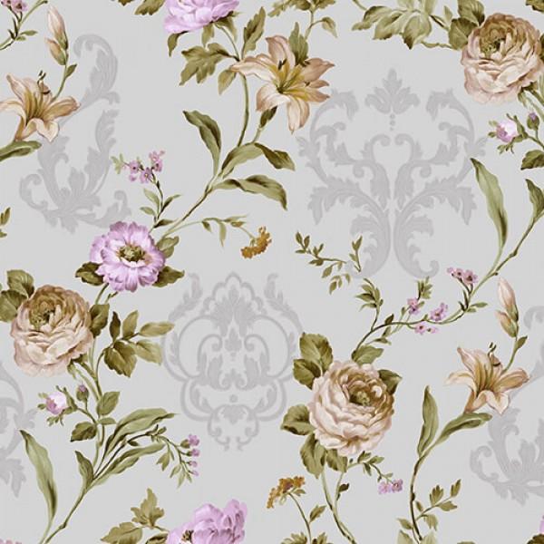 Seven 7803-3 Çiçek Desenli Duvar Kağıdı