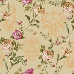 Seven 7803-4 Non Woven Çiçekli Duvar Kağıdı