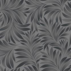 Seven 7812-4 Gri Yaprak Desenli Duvar Kağıdı