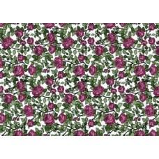 Alkor 280-0007 Çiçek Desen Cam Vitray Yapışkanlı Folyo