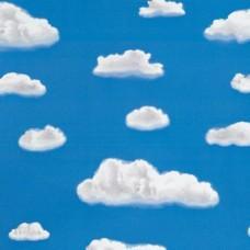 Alkor 280-2874 Bulut Desen Yapışkanlı Cam Vitray Folyo