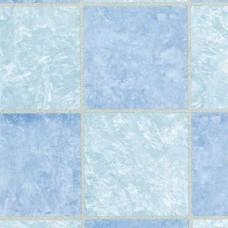 Alkor 280-3219 Mavi Kare Fayans Desen Yapışkanlı Folyo