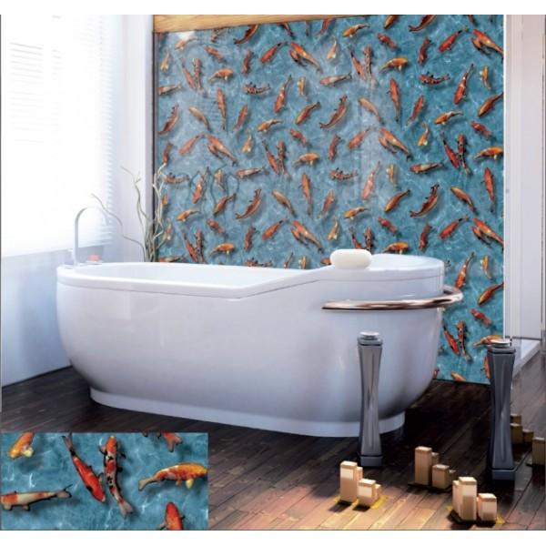 Alkor 280-0003 Balık Desen Kendinden Yapışkanlı Folyo