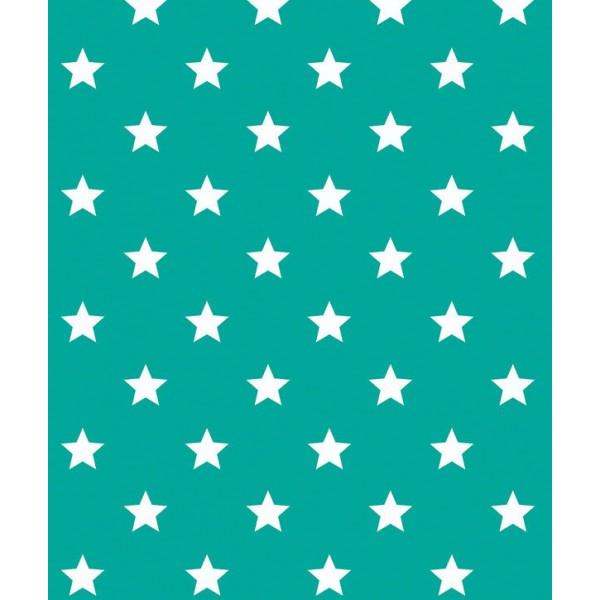 Alkor 280-0110 Yeşil Yıldız Desen Kendinden Yapışkanlı Folyo