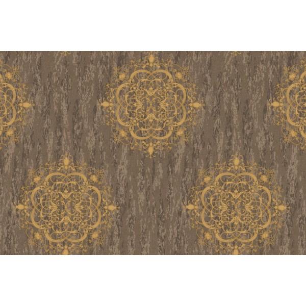 Amalfi 8525-3 Kahverengi Damask Desenli Duvar Kağıdı