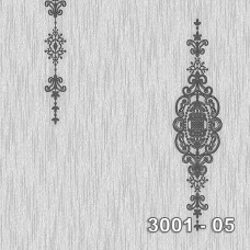 Armani 3001-05 Gri Damask Desenli Duvar Kağıdı