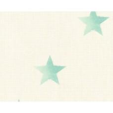Cote D'azur 35183-1 Yeşil Yıldızlı Çocuk Odası Duvar Kağıdı