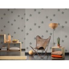 Cote D'azur 35183-2 Gri Yıldız Desenli İthal Duvar Kağıdı