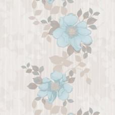 Blossom 85037-3 Mavi Çiçekli Duvar Kağıdı