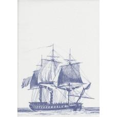 Boutique G12142 Mavi Gemi Desenli Duvar Kağıdı