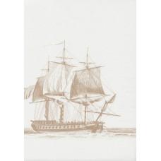 Boutique G12143 Yelkenli Gemi Desen Duvar Kağıdı