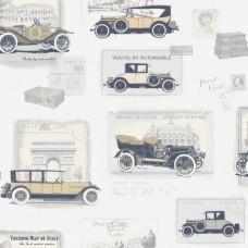 Boutique G56136 Antika Model Arabalı Duvar Kağıdı