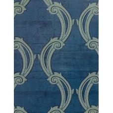 Caria 1424 Pastel Lacivert Damask Duvar Kağıdı
