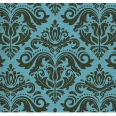 Classic Collection 4332 Turkuaz Damask Desenli Duvar Kağıdı