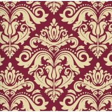Classic Collection 4333 Bordo Damask Desenli Duvar Kağıdı