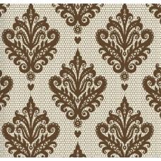 Classic Collection 4400 Kahverengi Damask Desenli Duvar Kağıdı