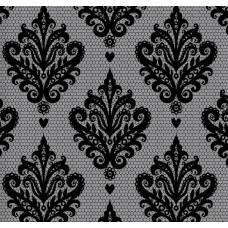 Classic Collection 4402 Gri Siyah Damask Desenli Duvar Kağıdı