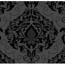 Classic Collection 4524 Siyah Damask Desenli Duvar Kağıdı