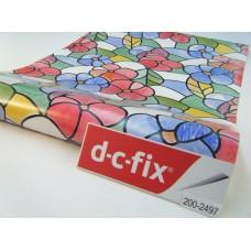 d-c-fix 200-2497 Çiçek Desenli Cam Vitray Folyo