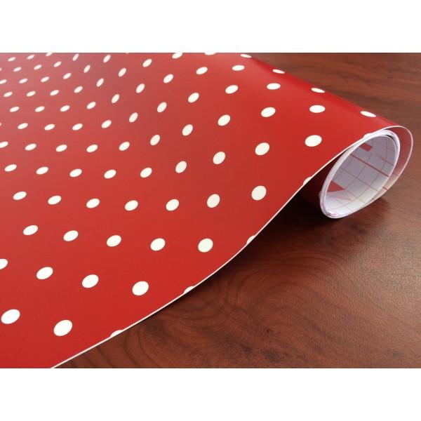 d-c-fix 200-3212 Kırmızı Puantiye Desen Yapışkanlı Folyo