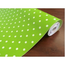 d-c-fix 200-3214 Fıstık Yeşili Puantiye Desen Yapışkanlı Folyo