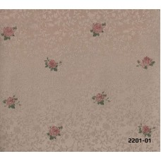 Bossini 2201-01 Çiçek Desenli Duvar Kağıdı
