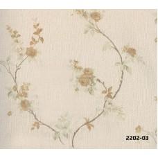 Bossini 2202-03 Non Woven Çiçek Desenli Duvar Kağıdı