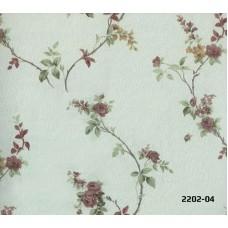 Bossini 2202-04 Yeşil Çiçekli Duvar Kağıdı