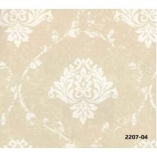 Bossini 2207-04 Bej Damask Desenli Duvar Kağıdı