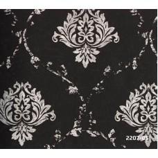 Bossini 2207-05 Siyah Damask Desenli Duvar Kağıdı