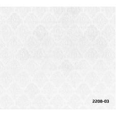 Bossini 2208-03 Beyaz Damask Desenli Duvar Kağıdı