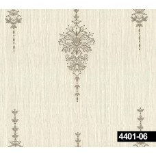 Crown 4401-06 Damask Desenli Vinil Duvar Kağıdı