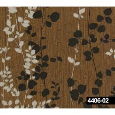 Crown 4406-02 Acı Kahve Çiçek Desenli Duvar Kağıdı