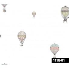 Decokids 1118-01 Balon Desenli Çocuk Odası Duvar Kağıdı