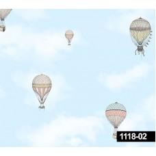 Decokids 1118-02 Balon Görünümlü Duvar Kağıdı