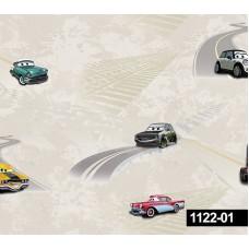 Decokids 1122-01 Araba Desenli Çocuk Odası Duvar Kağıdı