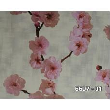 Lamos 6607-01 Vinil Çiçek Desenli Duvar Kağıdı