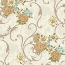 Classic 325-A Çiçek Desenli Duvar Kağıdı