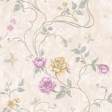 Classic 330-A Gül Desenli Yerli Duvar Kağıdı