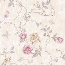 Classic 331-A Çiçek Desenli Duvar Kağıdı