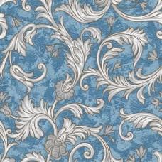 Classic 344-D Mavi Çiçekli Duvar Kağıdı