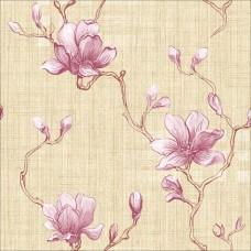 Classic 358-B Lila Çiçekli Duvar Kağıdı