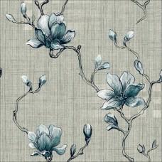 Classic 358-F Mavi Çiçek Görünümlü Duvar Kağıdı