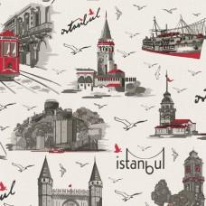 Dekor Life 834-A İstanbul Temalı Pop Art Duvar Kağıdı